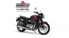 Triumph is offering free accessories worth INR 61K on entire Bonneville range