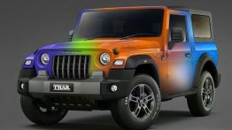 New-gen Mahindra Thar Rendered in a Set of Bright Colours