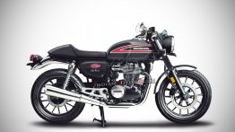 What if the Honda H'ness CB 350 was a cafe-racer? - IAB Rendering