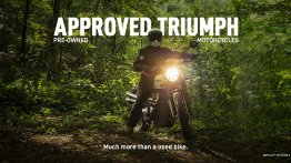 Pre-owned Triumph motorcycles program, 'Approved Triumph' launched