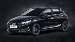 New Hyundai i20 Black Rendered; Here's How the Car Would Look All-Things-Dark