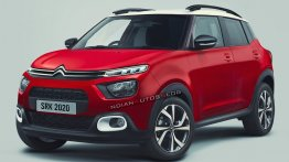 Upcoming Citroen Sub-Compact SUV for India Rendered