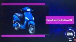 Hero Electric Optima HX wins the 2020 EV Two-Wheeler of the Year award