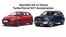 Hyundai i20 vs Hyundai Venue Turbo-Petrol DCT - Acceleration Comparison