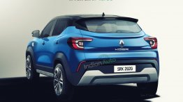 Renault Kiger Rear Quarter Rendered - Here's How It Could Look Like