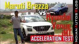 Maruti Suzuki Vitara Brezza vs Hyundai Venue - Acceleration Comparison