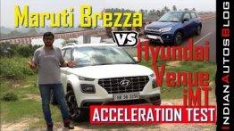 Maruti Suzuki Vitara Brezza vs Hyundai Venue - Acceleration Comparison