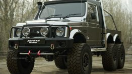 Maruti Suzuki Gypsy Rendered As A Badass 6x6 Off-Road Vehicle