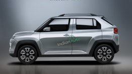Hyundai AX1 - Brand's Smallest SUV And Upcoming Tata HBX Rival Rendered