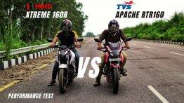 Hero Xtreme 160R vs TVS Apache RTR 160 - Top-End Performance Test