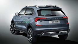 2021 Skoda Kushaq Rear End Rendering is to Drool Over