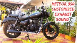 Royal Enfield Meteor 350 Exhaust Note - Stock vs Official Slip-on