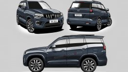 2021 Mahindra Scorpio Front, Side and Rear Visualized - IAB Rendering