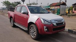 2021 Isuzu D-Max V-Cross BS6 Spied Ahead of Imminent Launch