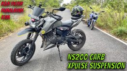 TVS Apache RTR 200 4V Fitted w/ Xpulse Suspension, NS200 Carb & More