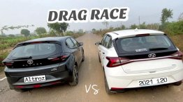 Hyundai i20 vs Tata Altroz in a Classic Drag Race - NA Petrol-MT