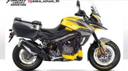 Bajaj Pulsar NS200 Portrayed as Adventure Tourer in this Rendering