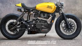 Royal Enfield Meteor 350 Cafe Racer Digital Avatar Looks Unbelievable