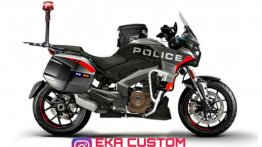 Bajaj Dominar 400 Transformed into Police Cruiser - Rendering