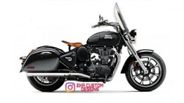 Royal Enfield Classic 350 Visualised as a Proper Bagger - Rendering