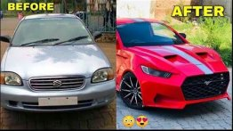 Humble Maruti Baleno Sedan Modified To Ford Mustang Lookalike - Cool Or Not?