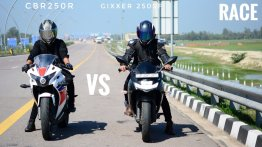 Can Suzuki Gixxer SF 250 Beat Honda CBR250R in Top-End Drag Race?