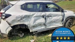 High-speed Crash of Nissan Magnite & Tata Zest (Both 4-star NCAP) Shows Former's Build Quality