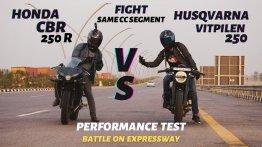 Husqvarna Vitpilen 250 vs Honda CBR250R in Top-End Drag Race [Video]