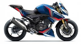 TVS Apache RTR 180 Transformed into Aggressive Streetfighter - Rendering