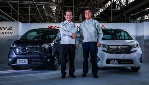 Nissan and Mitsubishi begin production of the jointly developed mini cars in Japan