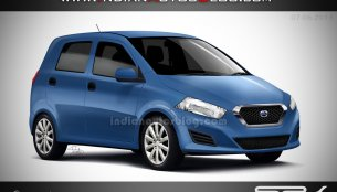 Rendering - SRK envisions Datsun's second small car, the 'I2'