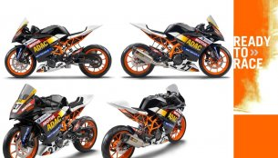 Race prepped KTM RC390 Cup previews fully faired compact sportsbike