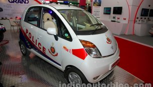 More images of the Tata Nano & Aria patrol car from the International Security Expo available