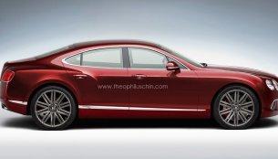 Rendering - Bentley's entry level four door coupe rendered