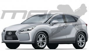 Rendering - Lexus LF-NX crossover to launch in August 2014; Has the Q5 and X3 in sight