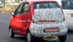 Spied - Tata Nano Diesel with openable hatch
