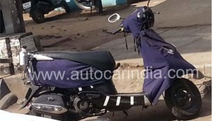 Spied - TVS Scooty Zest gets ready for an early 2014 launch