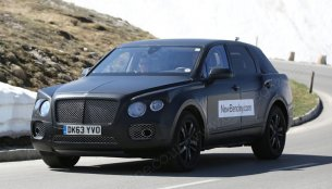 Spied - Bentley SUV with revised styling caught testing in Europe