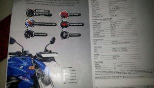 Report - Suzuki Gixxer brochure leak reveals complete tech specs