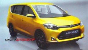 Indonesia - Toyota/Daihatsu's new Maruti Ertiga rival leaks out early