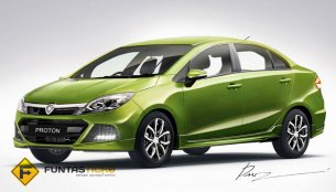 Rendering - Proton Iriz sedan not far off from being the Saga 3