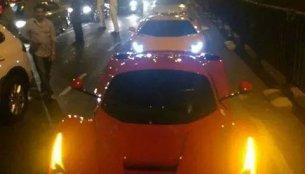 IAB Report - Ferrari LaFerrari spotted on Mumbai roads