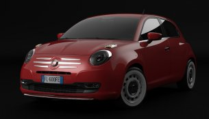 Rendering - Fiat 600 retro classic makes for a good Punto replacement