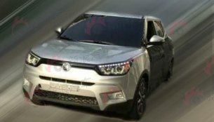 Ssangyong Tivoli compact SUV spotted in the wild - Spied