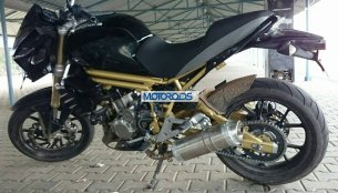 Mahindra Mojo snapped at the Kari Speedway - Spied