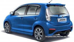Perodua Myvi facelift - Rendering
