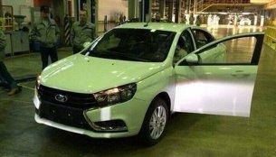 Production Lada Vesta (Hyundai Verna rival) spotted undisguised - Russia