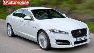 2016 Jaguar XF render gives basic look at updated design - Render