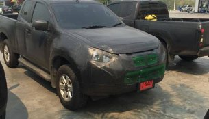 Isuzu D-Max facelift snapped in full camouflage - Spied