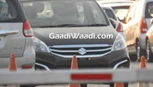 Maruti Ertiga facelift demo vehicle with SHVS - Spied